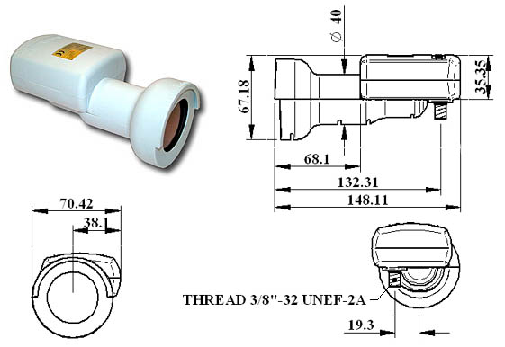 INVACOM UNIVERSAL SINGLE - LNB UNIVERSALE 1 USCITA