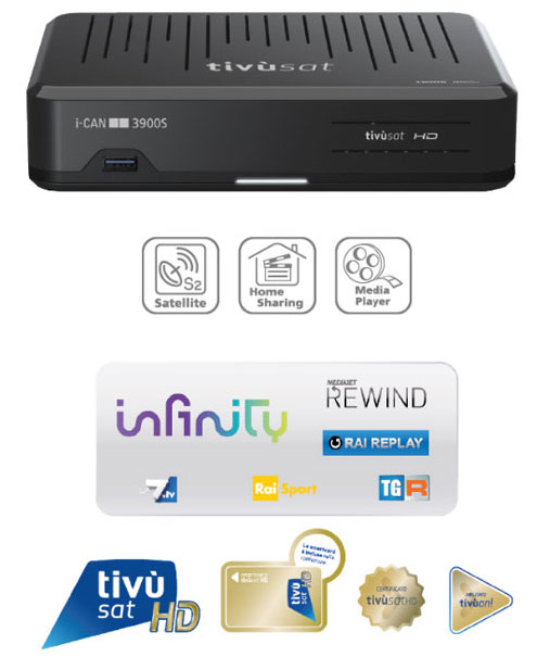 i-CAN 3900S Satellitare HD