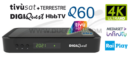 DECODER TIVUSAT Q60 HD 4K