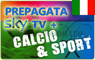 CARTA PREPAGATA SKY TV HD + SKY CALCIO HD + SKY SPORT HD