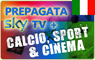 CARTA PREPAGATA SKY TV HD + SKY CALCIO HD<BR />+ SKY SPORT HD + SKY CINEMA HD