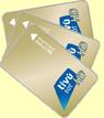 PACK 3 SMART CARD UFFICIALI TIVUSAT ORO SD+HD+UHD 4K
